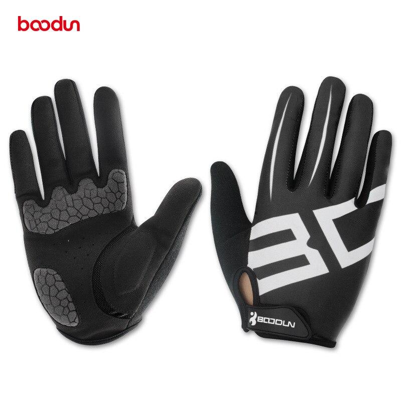 Boodun мужские и женские перчатки для велоспорта полный гель для пальцев мотоциклетные MTB дорожный велосипед велосипедные варежки для верхово
