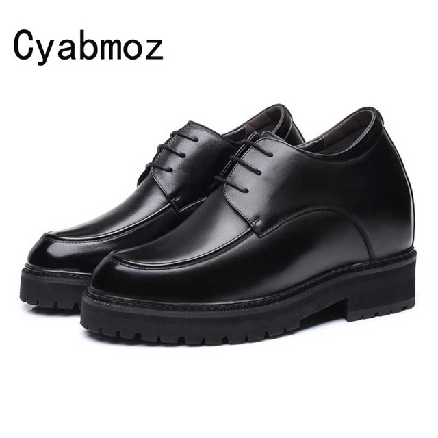 Extra High 4.7 Inches Classic OxfordS Genuine Leather Height Increasing Elevator Shoes Increase Men's Height 12CM Invisibly Shoe
