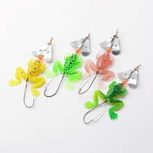 1Pc New Rubber Frog Soft Fishing Lures Fishing Tackle Plastic Frog Lure Wobbler Crank Baits Bass 11.5x4cm Random Color