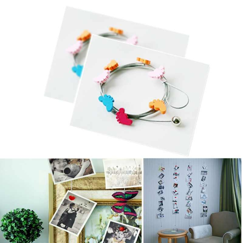 Creative Magnetic Photo Rope Photo Wall Photo Display Creative Iron Rope Can Be Hung Horizontally Frame Photo Rope New
