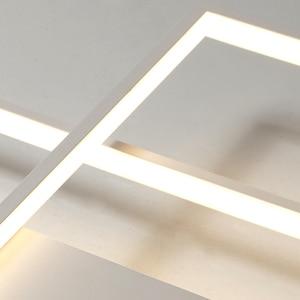 Image 5 - NEO Gleam New Arrival Black/White LED Ceiling Chandelier For Living Study Room Bedroom Aluminum Modern Led Ceiling Chandelier