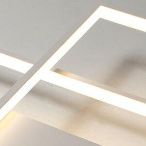 Image 5 - NEO זוהר הגעה חדשה שחור/לבן LED תקרת נברשת לחיים מחקר חדר שינה אלומיניום מודרני Led תקרת נברשת