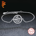 Luxury 925 Sterling Silver Tree of Life Beads Bracelet & Bangle Crystal Heart of Band Charm Bracelet for Women Original Jewelry