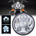 """Wholesale 5-3/4"""" 5.75"""" Round LED Projection Daymaker Headlight for Harley Davids Motorcycles Black 9 pcs Bulb"""