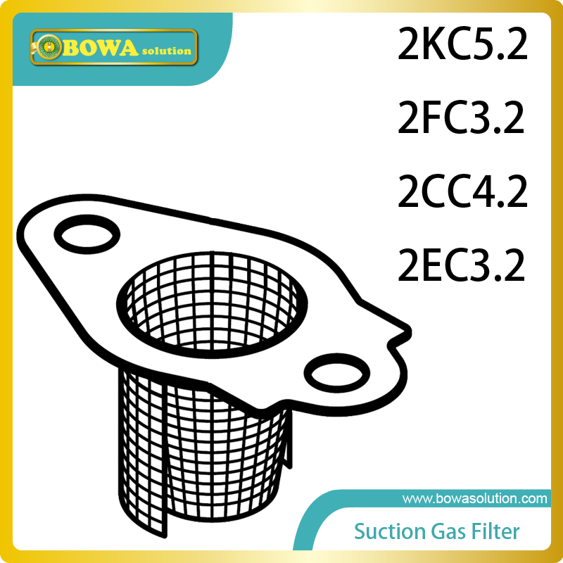 S4 Suction Gas filters for small 2 cyliners semi-hermetic compressor compatible with Bitzer 2CC4.2 and 2EC3.2 spare parts s4 2cylinder and small 4cylinders dia 41 piston with connection rod complete for bitzer semi hermetic compressor
