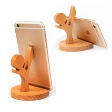 wood holder phone for iPhone 6S Samsung S6 Note5 Sony Xiaomi Huawei Desk Phone Holder Cell Bracket Wooden Phone Stand Holder цена