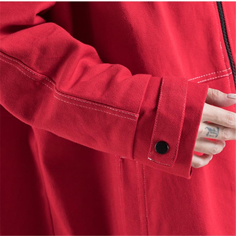 Longue Coupe Qualityn Art Grande Hjb56 2018 Femme Capuche Nouvelle vent Rouge Automne Hiver À Red Cowboy Taille Haute Mode Manteau Vêtements Ventilateur wEEvT6
