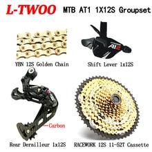 LTWOO AT12 MTB Bike Groupset 12 Speed Shifter +Rear Deraileur +RACEWORk 52T Cassette+YBN Chain 4 Piece Set Eagle M9000