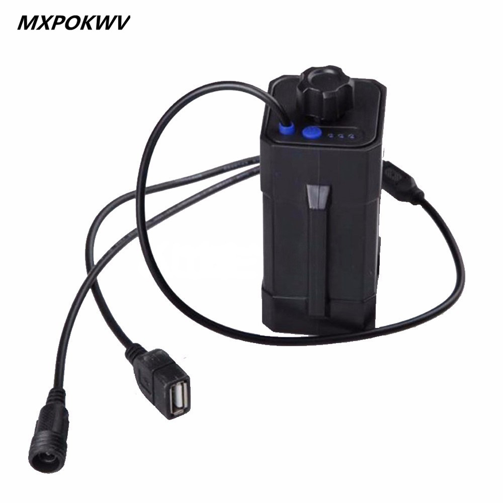 Mxpokwv Waterproof Battery Box Usb Dc Output 4x18650