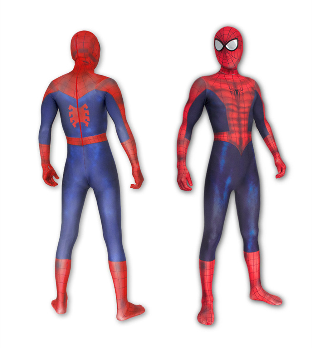 The Amazing Spider-man Costume Jumpsuit Adult&Kids Spider man Halloween Cosplay Spandex Superhero Zentai suit Fancy Party dress