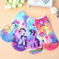 1 pair 2017 fashion cotton baby 3D printing cartoon Little Horse poni kids socks boys girls children Christmas gifts floor socks
