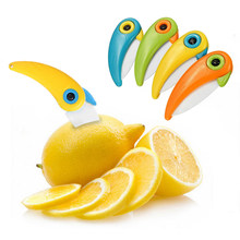 Hoomall Fruit Knife Cutlery Cutter Carton Box Pare Peel Slices Fold Knife Bird Parcel Portable Mini Kitchen Ceramic Knife(China)