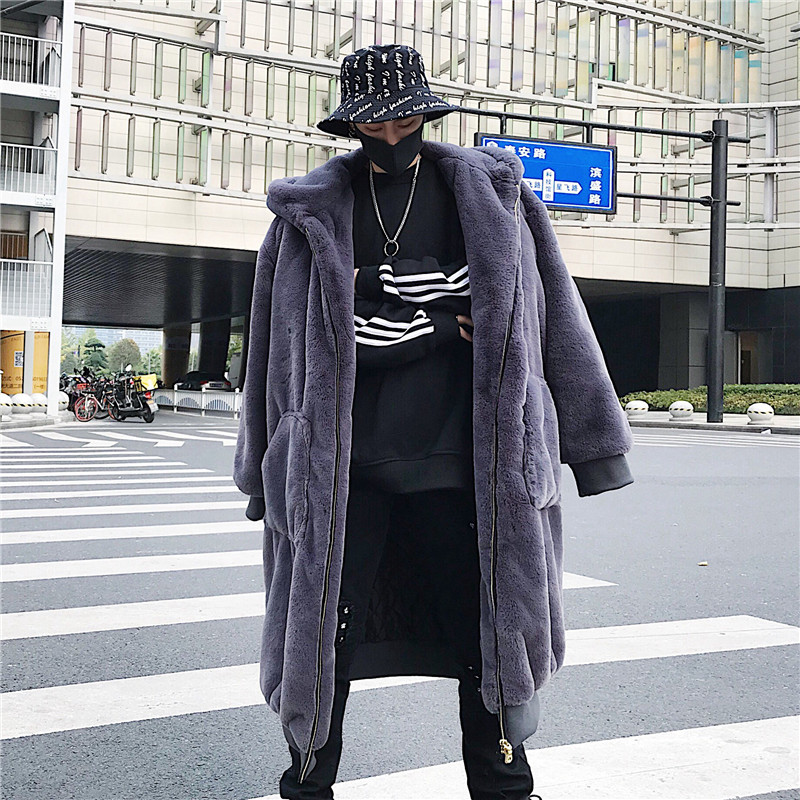 Nieuwe Bontjassen Winter Hooded Faux Fur Mannen Warm Rits Luxe Bovenkleding Mannelijke Lederen Jassen-in Kunstleerjassen van Mannenkleding op AliExpress - 11.11_Dubbel 11Vrijgezellendag 1