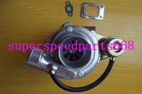 GT28 6 GT2860 .49 a/r rear turbine .60 a/r water&oil T25 T28 water&oil cooled 180 320hp Internal Wastegate Turbo turbocharger