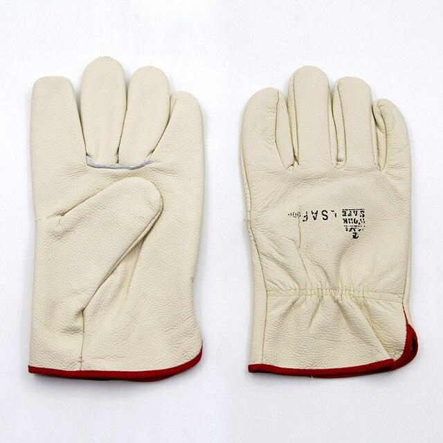 Новый 2016 guantes trabajo теплые белый 25 cmwelding вырезать защитные перчатки износостойкие перчатки рабочие