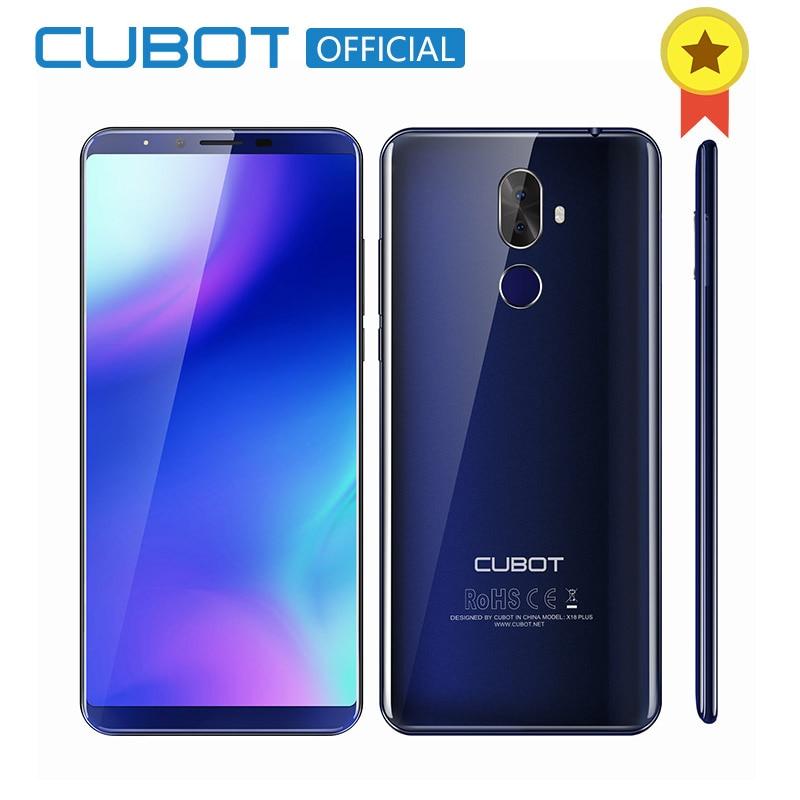 Cubot X18 más 18:9 5,99 ''4 GB 64 GB 2160*1080 Android 8,0 MT6750T octa-core 4G teléfono móvil Dual Rear cámaras 4000 mAh teléfono móvil