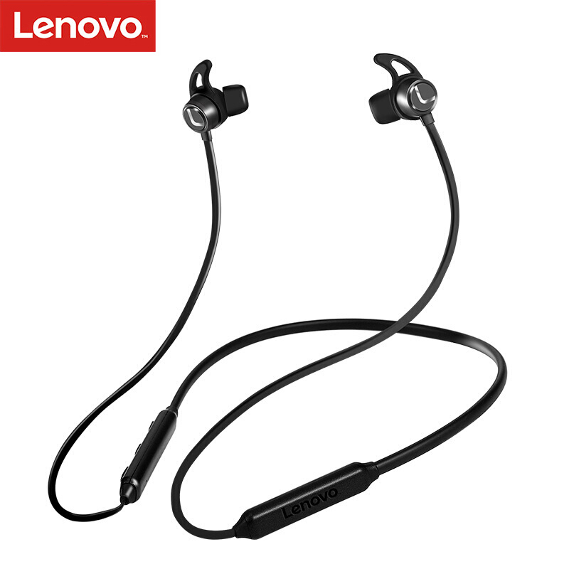 Lenovo Earphone-Stereo Bluetooth-Headset Wireless Sweatproof V5.0 Original Sport
