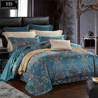 Egyptian Cotton Yarn Dyed Jacquard Rope Leaves Design 4Pcs Bedding set Sheets Duvet Cover Pillowcase Queen King Size 650TC