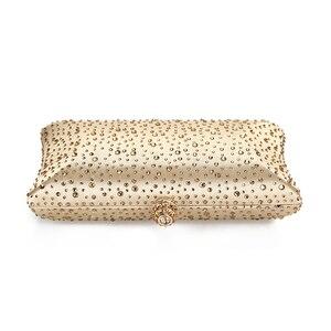 Image 4 - זהב מצמד שקיות נשים 2020 ירוק מצמד ארנקי תיקי עם ריינסטון חתונה כתף תיק גבירותיי ערב תיק ZD1300