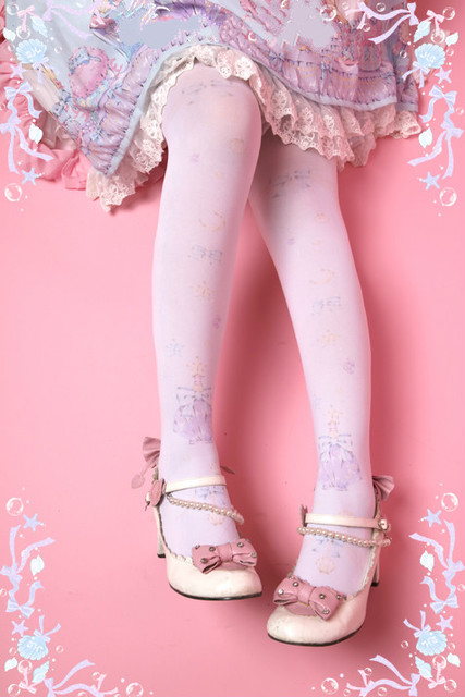 Princess sweet lolita pantyhose Alice Mermaid Ji ocean wind pantyhose G10