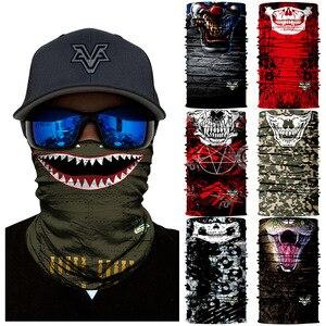 Animal serpiente calavera ciclismo moto Ski Venom Headwear cuello polaina Bandanas a prueba de viento Magic Scarf senderismo máscara sin costuras Balacla