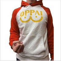 One Punch Man Hero Saitama Oppai Hoodie Cosplay Costume Jacket Sweatshirts Men Women Hooded Casual Coat