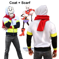 Hot Games Undertale Skull Brother Printed Hoodies Sans and Papyrus My Skeleton Sweatshirts Coat Party Outfits for Winter