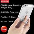 4pcs in 1 Pack Original Joyroom Fashion & Cute Anti Slip 360 Degree Finger Ring Holder For iPhone Smartphone Tablet PC PDA