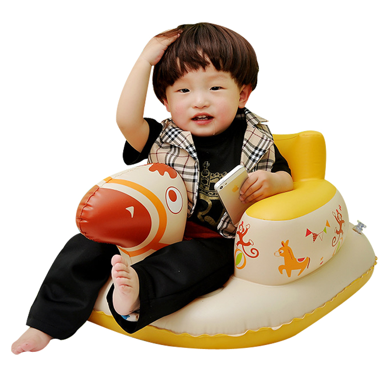 Lovely Cartoon Animal Shaped Multi-function Baby's Chair Portable Aerated Sofa Infants' Study Chair Soft Learn The Seat Chair
