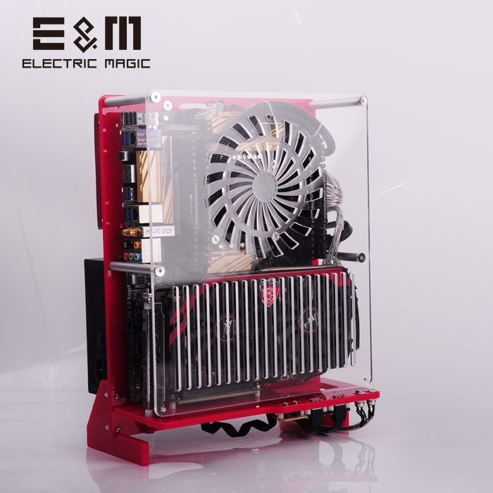 ITX MATX ATX SFF Air Tower Case PC Test Bench Open Frame Vertical Chassis 120 240W Water Cooling Overclock HTPC Graphics Card
