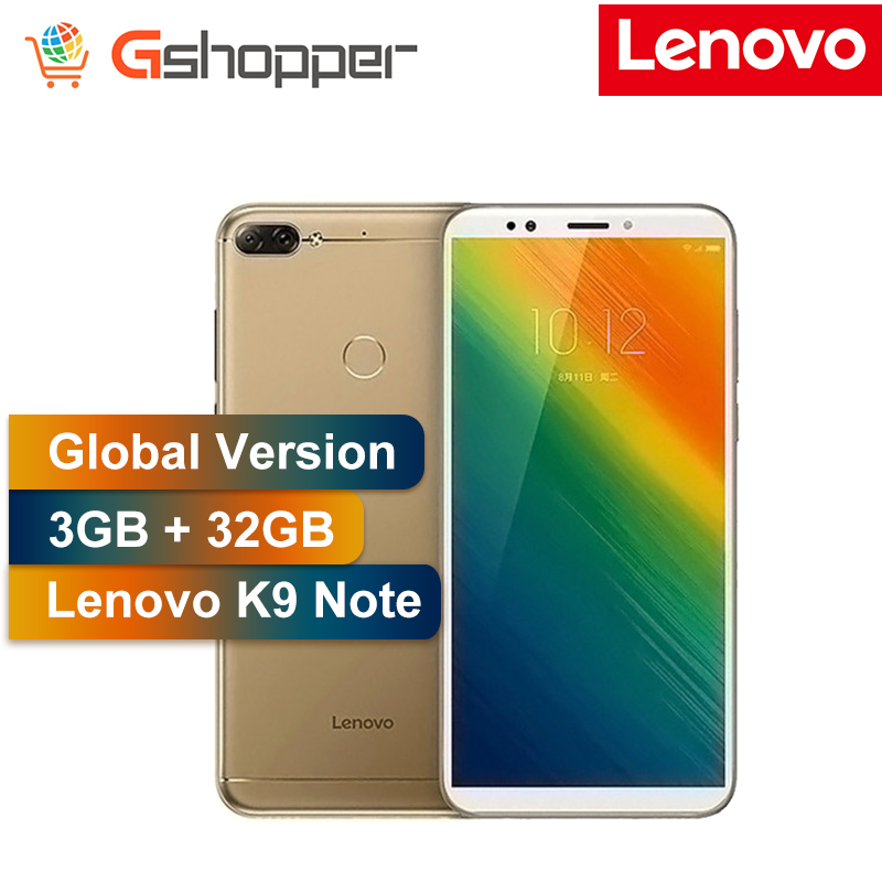 Global Version Lenovo K9 Note Unlocked Cell Phone 3GB 32GB 6 inch 18:9 Octa core Android Smartphone Rear 16MP Front 8MP Camera