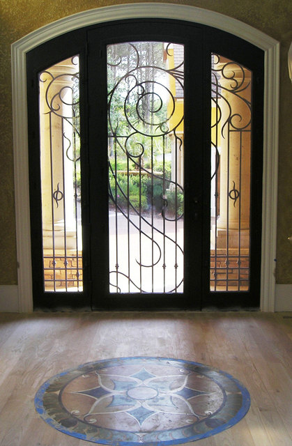 Handmade Custom Size Wrought Iron Doors One Top Service Shipping To Usa Factory Price Hench
