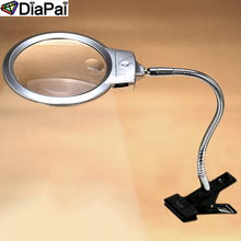 DIAPAI Daimond Painting Full 5D Square/ Round Led Magnify Glass Diamond magnifier Tools Gift