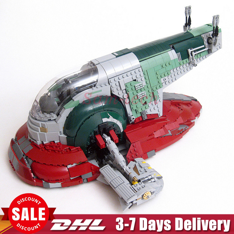 In-Stock LEPIN 05037 UCS Slave I Slave NO.1 Model 2067pcs Building Block Bricks Toys Kits Set Clone 75060 Children Gifts new lepin 22001 pirate ship imperial warships model building kits block briks toys gift 1717pcs