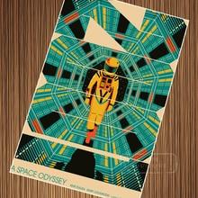 Sci-fi 2001 A Space Odyssey cápsula del espacio Retro película clásica Vintage cartel de papel Kraft lona pegatina de pared decoración del hogar