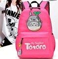 2016 New Cartoon Rabbit Double School Bag Shoulder Bag Casual Female Bag Oxford Cloth Backpack Totoro Bag Women Backpack