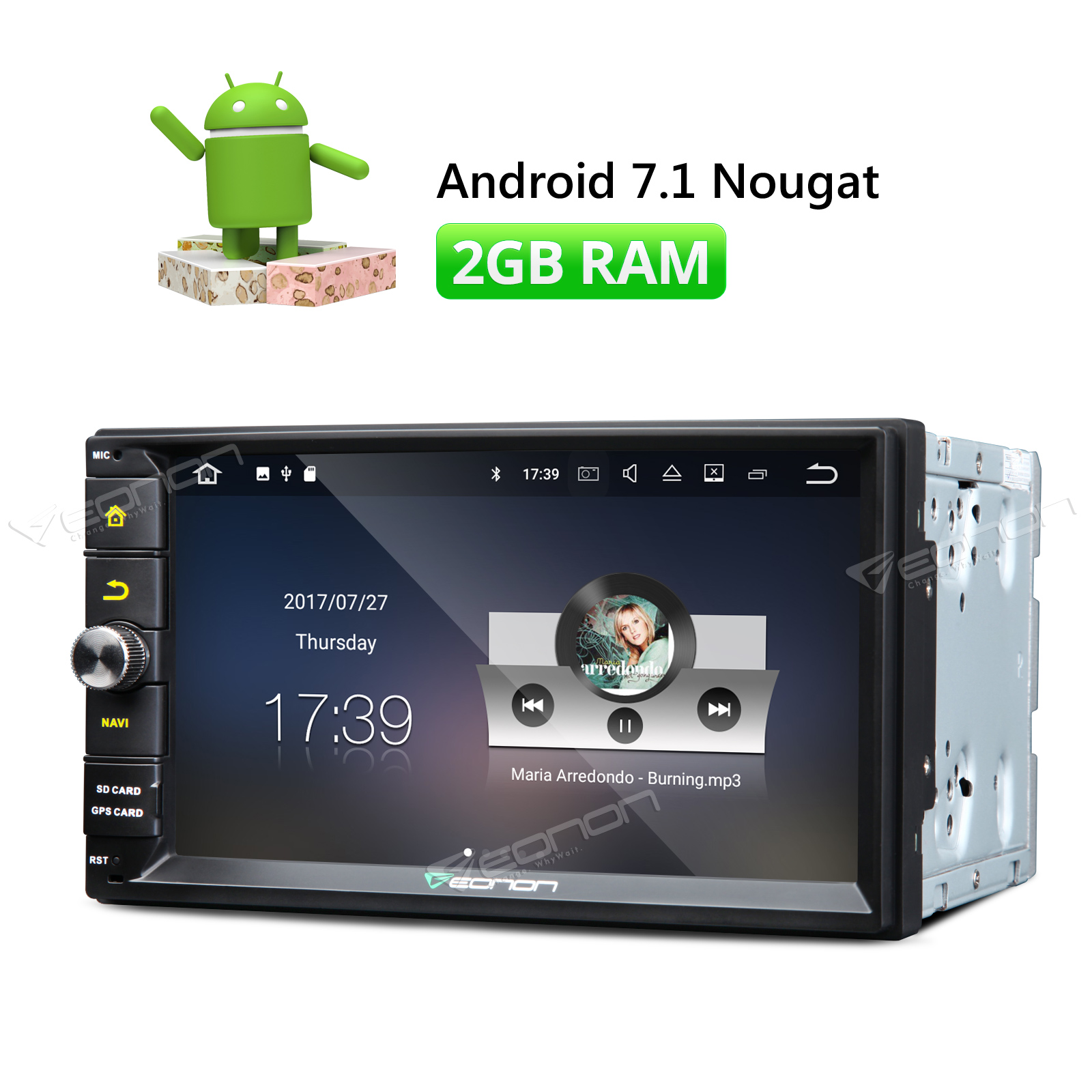Eonon Wiring Diagram Library Double Din Wire Ga2165 Iso 7 Head Unit Android 71 Car Stereo Fm Radio Gps Navigator 2