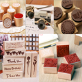 (24 Styles can Choose) DIY Scrapbooking Lace Stamps Vintage Flower Wood Rubber Craft Ink Pad Stamp Wax Seal Stamp