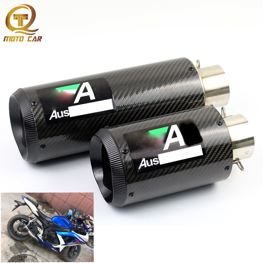Modified Motorcycle Exhaust Muffler 51MM 61MM Escape Moto For Exhaust Pipe Yamaha R1 Kawaski Z750 Z800 CBR650 CBR1000 Z1000 ZX6R автомобильные ароматизаторы ambielectric ароматизатор для автомобиля электрический с ароматом cor