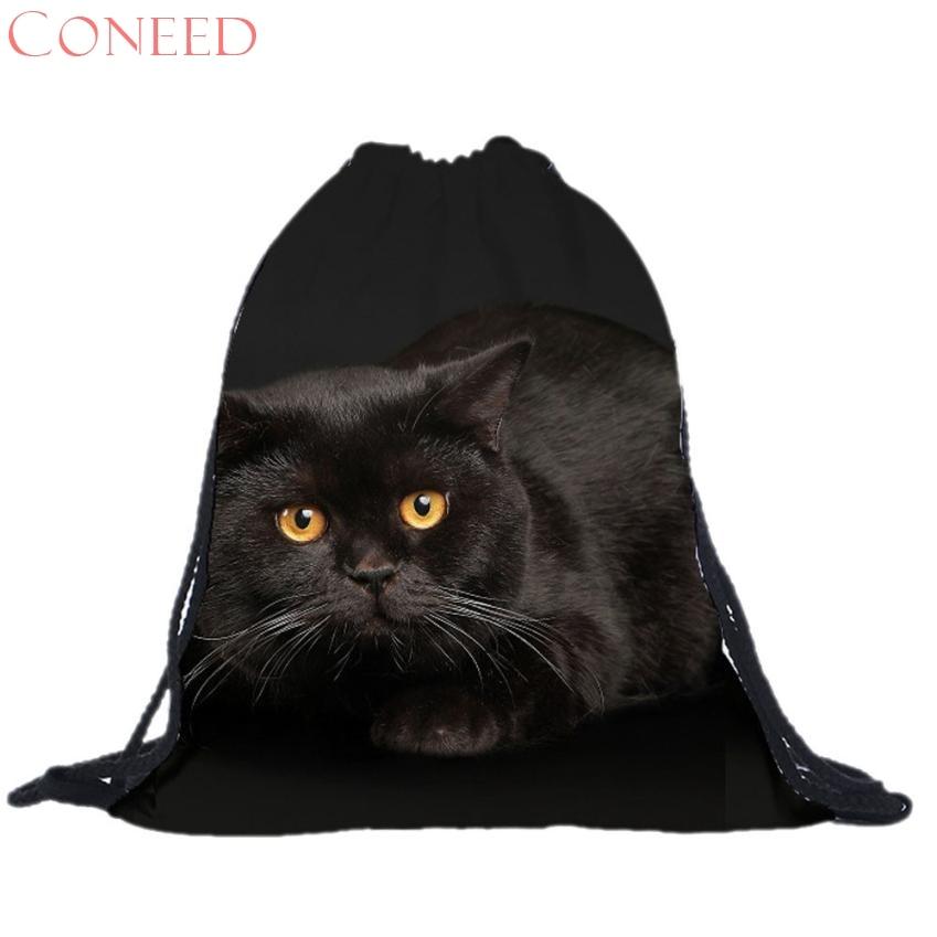 CONEED School Bags Drop Shipping Fashion s Unisex Ct s 3D Printing bags Drawstring  Charming Nice Oct16x