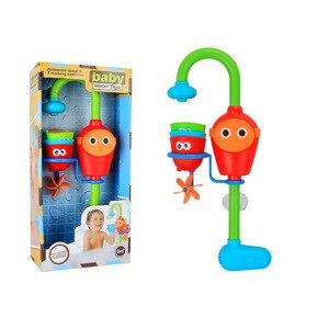 Image 4 - ชุดว่ายน้ำ spouts Clockwork เล่นน้ำห้องน้ำ oyuncak สำหรับทารกเด็กเด็กสระว่ายน้ำว่ายน้ำอ่างอาบน้ำ bath ของเล่น
