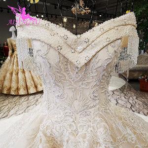 Image 5 - AIJINGYU Sequin Ball Gown Plus Size Bridal Gown Antique engagement Sexy This SeasonS Lace Top Civil Wedding Dress