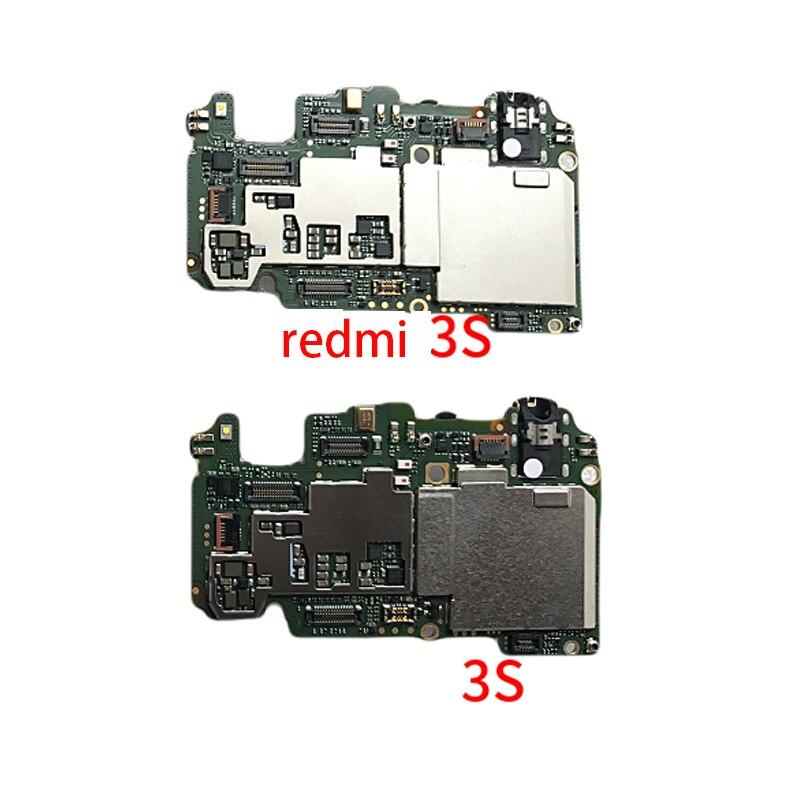 En Stock 100% de Travail 16 gb Conseil Pour Xiaomi Redmi 3 s Redmi 3 s Carte Mère Smartphone Réparation Remplacement + numéro de suivi