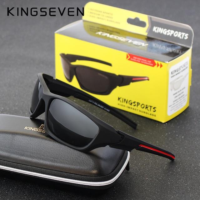 Kingseven Brand 2017 Men's Polarized Sun glasses Night Vision Mirror Eyewear Kingsports Sunglasses Men Goggle lunette de soleil