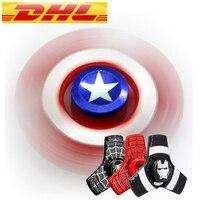 32 200PCS Lot The Avengers Captain America Fidget Spinner Metal Hand Spinner Alloy Finger Spinner Tri