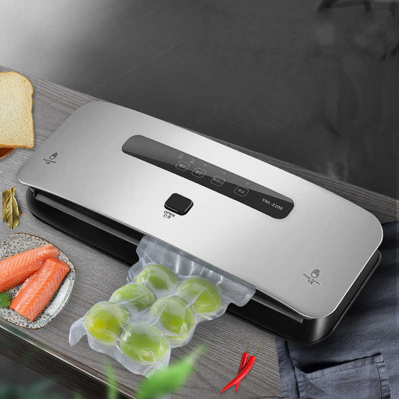 Lifresher Vacuum Sealer Best Fully Automatic Portable Household Food Wet Dry 220V 110W Packaging Machine Sealing Include 15Pcs