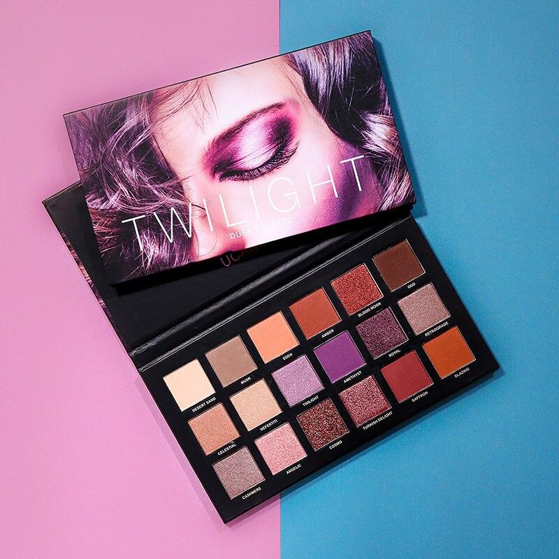 2018 UCANBE Matte Shimmer Shining Eyeshadow Palette Eyes Glitter Pigment Smoky Waterproof Makeup Kit