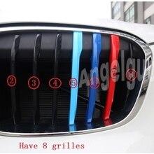 Angelguoguo 3D Автомобильная решетка спортивная полоса ABS Наклейка для BMW X1 F48