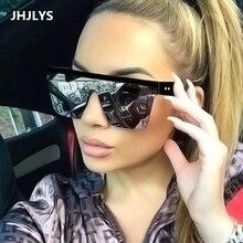 2019 new oversized sunglasses women's brand design flat