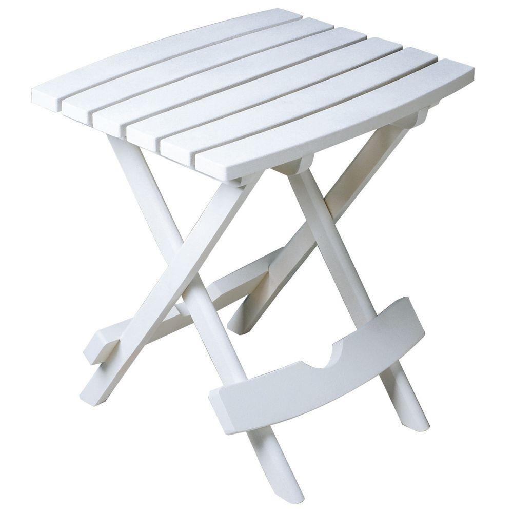 Adams 8500-48-3700 Quik-Fold Side Table-White quik lok rs513